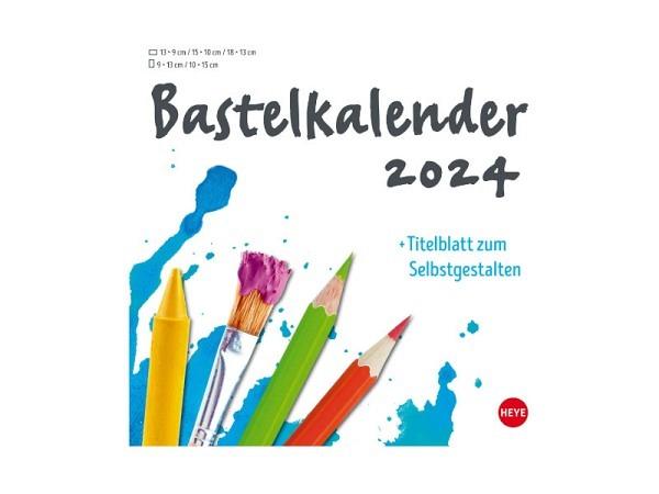 Bastelkalender Heye zum Selbstgestalten, 21x22cm weiss, mit Spiralbindung, Verlag Heye 978 3840 1773 61