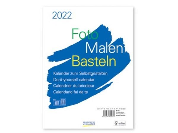 Bastelkalender Korsch Foto, Malen, Basteln weiss 21x29,7cm Hochformat