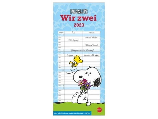 Familienplaner Heye Peanuts Snoopy Wir zwei 16x34,7cm