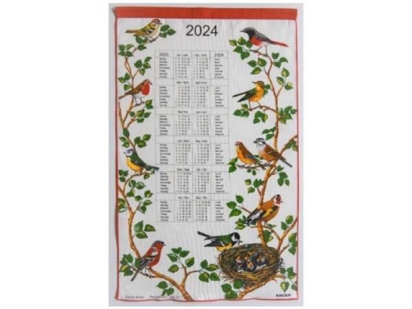Stoffkalender Appenzeller Alpaufzug 43x68cm mit Holzstab