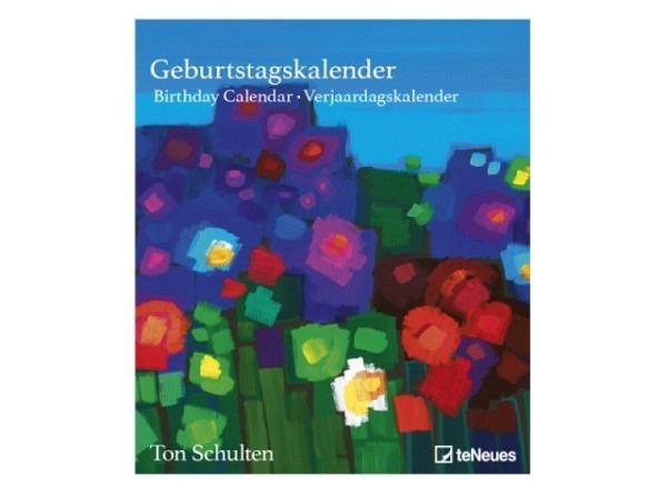 Geburtstagskalender teNeues Schulten Ton, 22x26cm