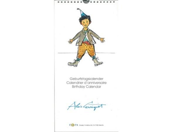 Geburtstagskalender Carigiet Alois Schellenursli, 16,6x34cm