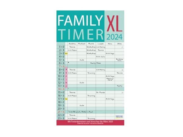 Familienplaner Korsch Family Timer XL mit 6 Spalten