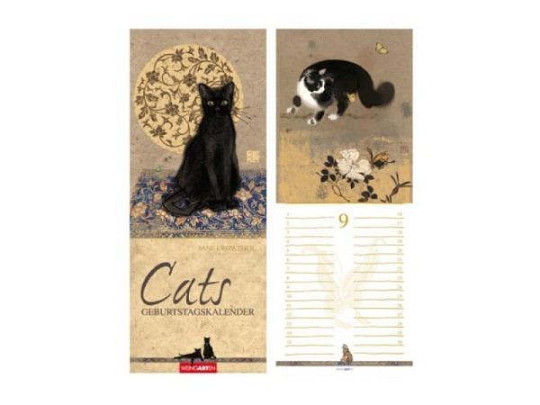 Geburtstagskalender Weingarten Cats von Jane Crowther 13,5x34cm