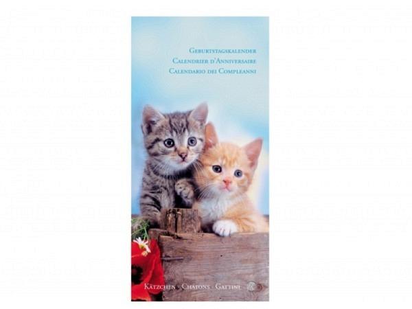 Geburtstagskalender Alfa Kartos Kätzchen, 16x33cm