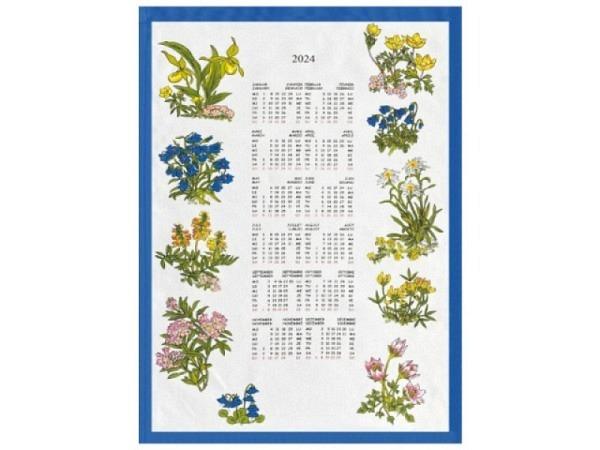 Stoffkalender Sommeridylle 35x65cm, mit Holzstab