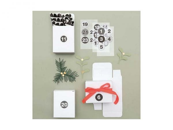 Adventskalender PaperPoetry Schachteln weiss zum Selbergestalten