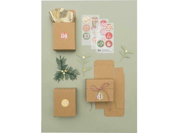 Adventskalender PaperPoetry Schachteln Kraftpapier braun