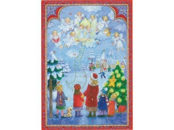 Adventskarte Sellmer Nr.496 musizierende Engel