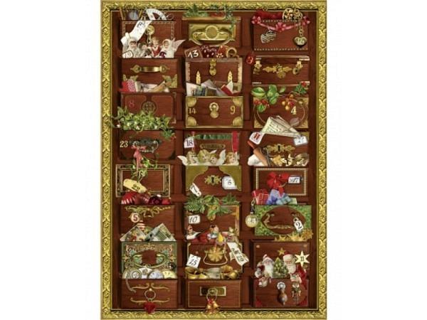 Adventskalender Coppenrath Nostalgische Weihnachtskommode A4
