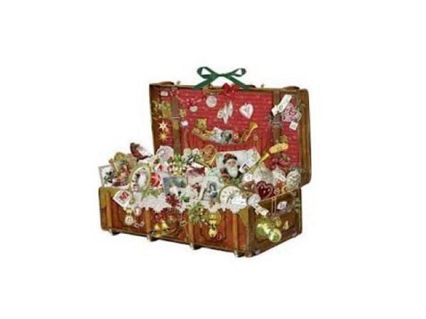 Adventskalender Coppenrath Nostalgischer Weihnachtskoffer 44x55cm
