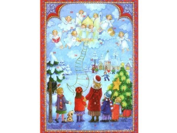 Adventskalender Sellmer Nr.99 Himmel mit Engel