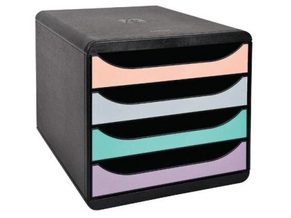 Büroset Exacompta Big-Box Plus türkis 5 Schubladen A4+