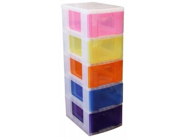 Büroset Really Useful Rainbow mit 5 Schubladen