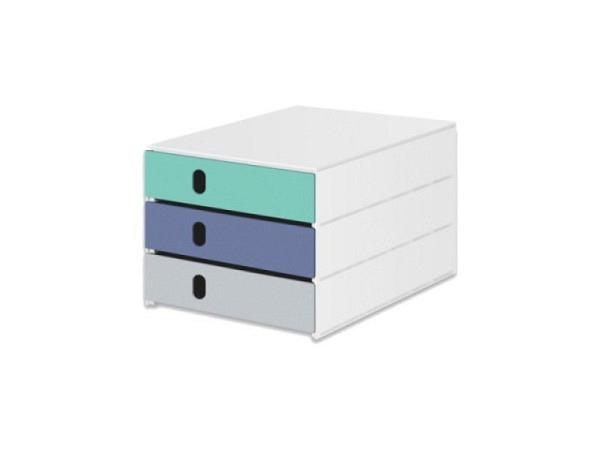 Büroset Exacompta Big-Box Plus lemongrün 5 Schubladen  A4+