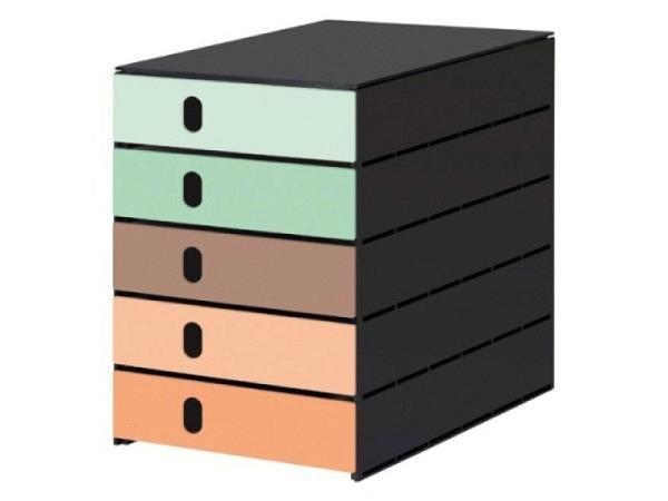 Briefkorb Kirschholz geölt für A4-Formate, attraktive Kombination aus edlem Holz und Edelstahl, vers