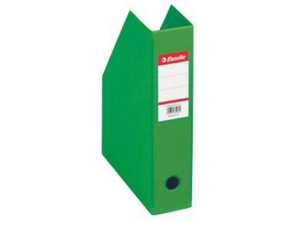 Zeitschriftenbox Esselte grün 7cm faltbar, PVC-Ueberzug