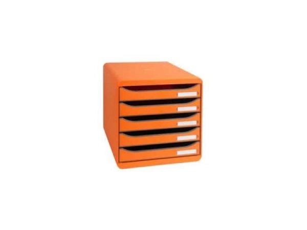 Büroset Exacompta Big-Box Plus orange 5 Schubladen A4+