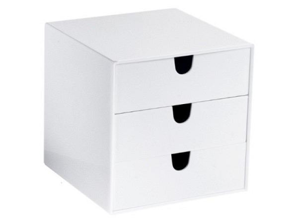 Büroset Palaset weiss glanz mit 3x4,5cm Schubladen