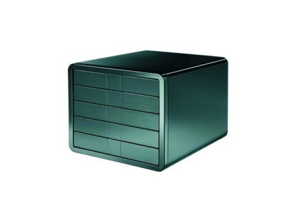 B�roset Han i Box 5 Schubladen geschlossen schwarzes Geh�use, schwarze Schubladen, f�r Formate bis C4 mit diskretem Beschriftungskonzept, wirkt perfekt in architektonisch anspruchsvollen B�ros, Aussenmasse: (BxTxH) 29,5 x 35,5 x 24,7  1551-13