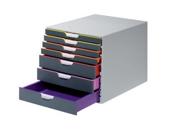 Büroset Durable Varicolor mit 7 geschlossenen Schubladen, 3 hohe und 4 niedrige Schubladen