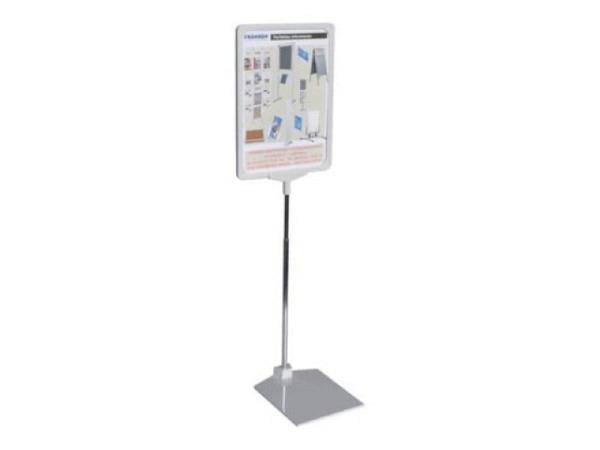 Plakatrahmen Connect A4 rot Infotaschen magnetisch