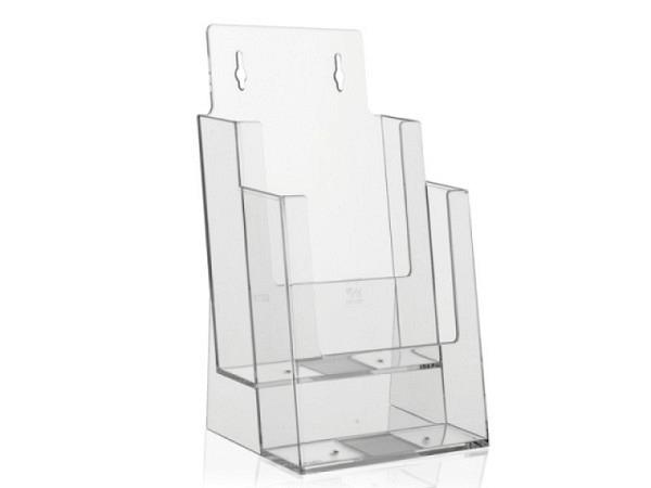 Prospektsteller Acryl transparent A5 Hochformat 2fach