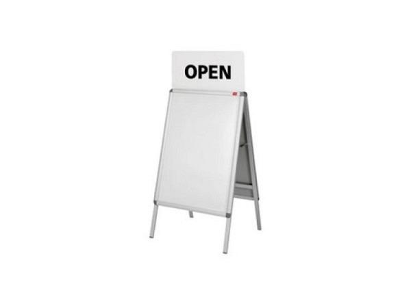 Aufssatzschild für Plakatständer Maul Public, A1 64x113x7,4cm
