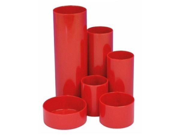 Bürobutler M+M Kunststoff rot rund 6tlg