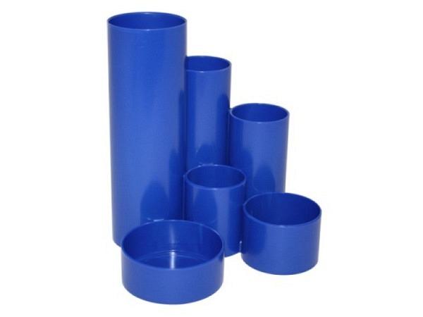 Bürobutler M+M Kunststoff blau rund 6tlg.