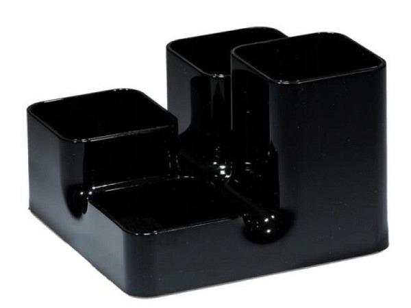 Bürobutler Arlac Unibutler schwarz 4teilig eckig