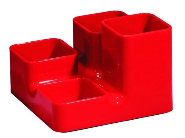 Bürobutler Arlac Unibutler rot 4tlg. eckig