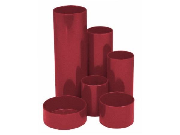 Bürobutler M+M Kunststoff rubinrot rund 6tlg.