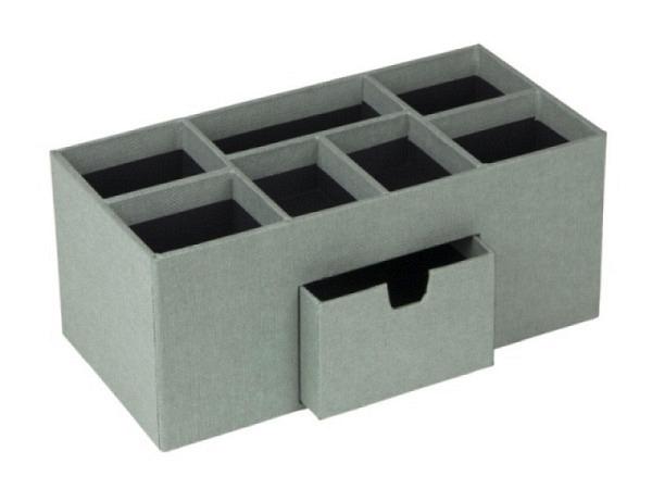 Bürobutler Bigso Box Leinenbezug Vendela Soft Teal Mint