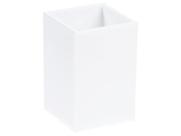 Köcher Palaset weiss glänzend gegossene Ecken 6,5x6,5x10cm