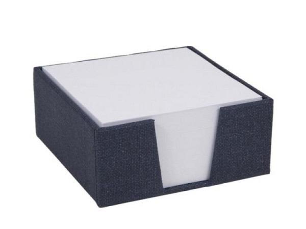 Zetttelkasten Bigso Box Leinenbezug James dunkelblau