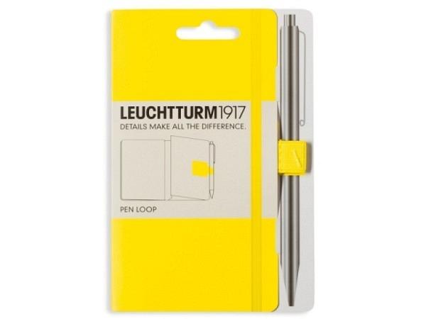 Stifthalter Leuchtturm für Agenden, selbstklebende Stiftschlaufe gelb