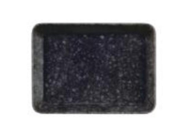 Pultschale Marbled Melamine flach 155x115x20mm, aus Kunststoff, schwarz/weiss marmoriert