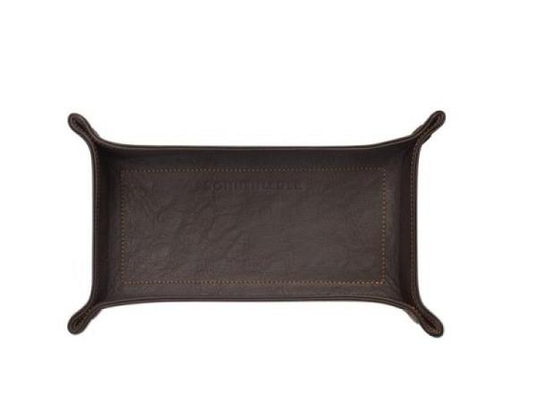 Pultschale Sonnenleder Mocca Stifteschale 22,5x11cm