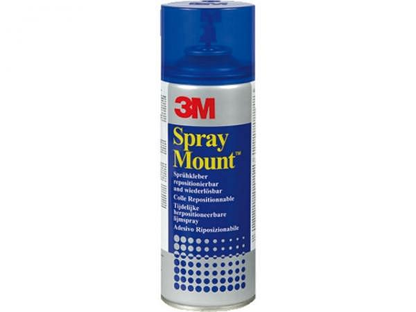 Sprayleim Spray Mount 3M 400ml, teilweise abl�sbar, UV-best�ndig, blaue Dose, schl�gt nicht durch