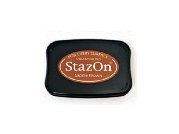 Stempelkissen StazOn saddle brown 6x10cm, schnelltrocknend