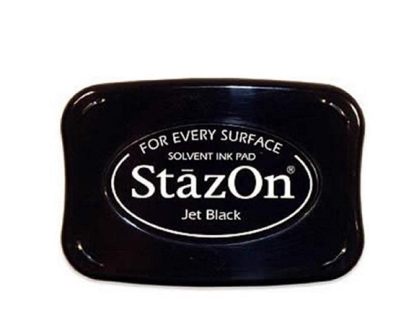 Stempelkissen StazOn schwarz 6x10cm, schnelltrocknend
