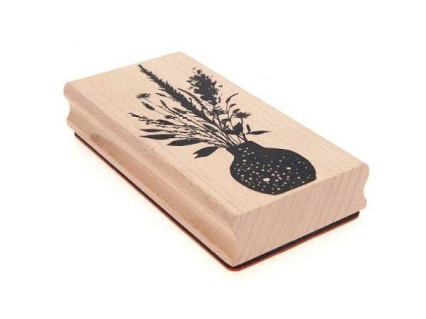 Stempel PaperPoetry Blumenstrauss, Holzstempel im Format 60x120mm, 100% FSC-zertifiziertes Holz