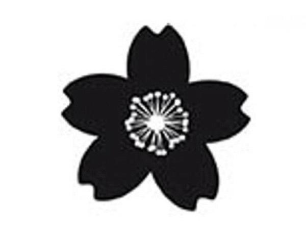 Stempel PaperPoetry Kirschblüte, Holzstempel im Format 35x35mm