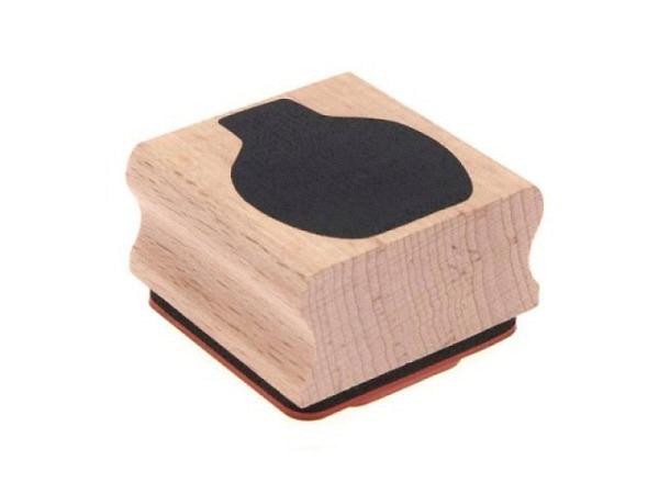 Stempel PaperPoetry Blumenvase, Holzstempel im Format 40x40mm, 100% FSC-zertifiziertes Holz