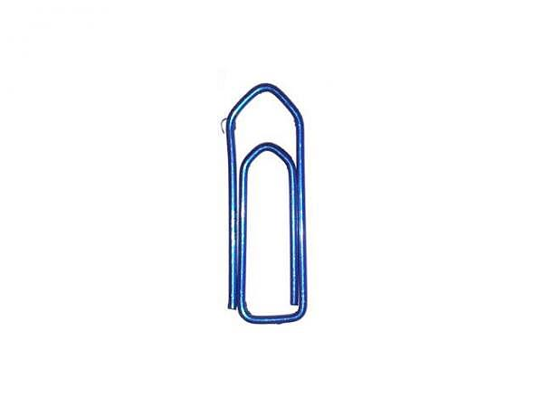 Büroklammern Omega 100Stk. Grösse 3, lackiert blau
