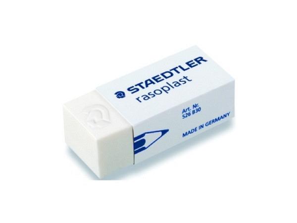 Radiergummi Staedtler Raso Plast für Bleistifte, 42x18x12mm