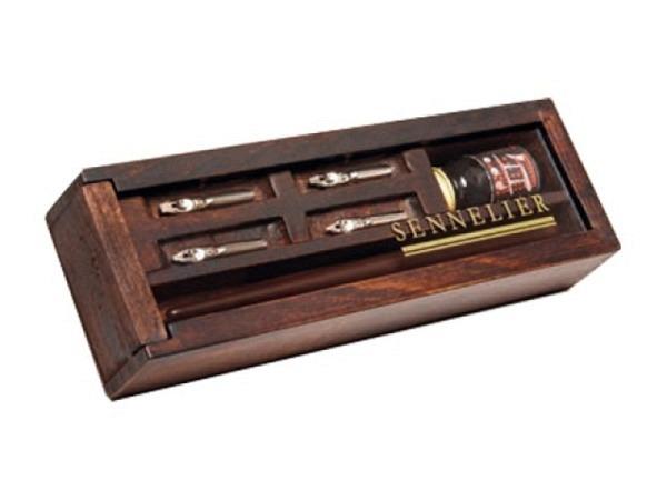 Tusche Sennelier Chinatusche schwarz in der Holzschatulle