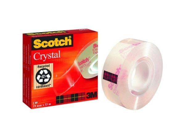 Klebeband Scotch Crystal 600 19mmx33m