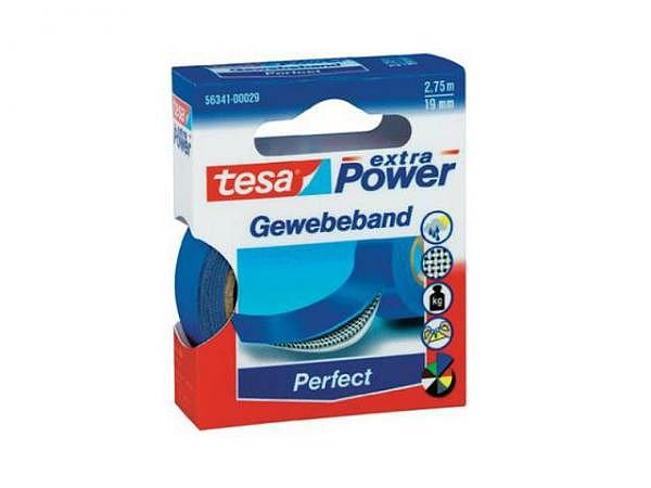 Gewebeband Tesa wetterfest 19mmx2,75m blau
